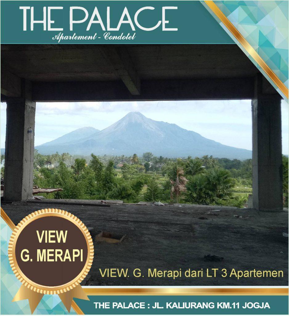 Pemandangan Ke Gunung Merapi dari The Palace Jogja